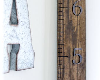 Growth Ruler • Growth Chart Ruler • Wood Growth Ruler • Wood Growth Chart Ruler • Industrial Growth Ruler  • Rustic Growth Ruler
