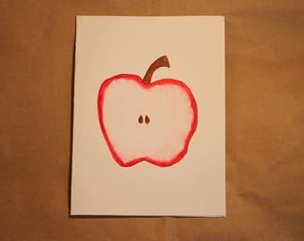 Watercolor Card - Apple - Set of 4