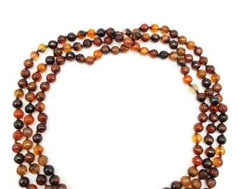 "60"" Maroon Sardonyx Necklace"