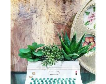 Mid-Century Ceramic Typewriter Succulent Planter -Velco Japan 3918