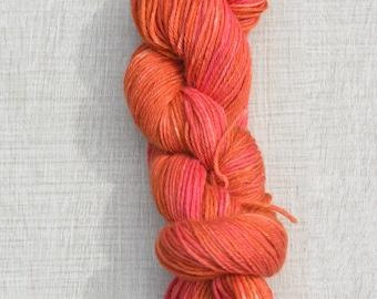 Hand dyed yarn: All reds on Angel DK (baby alpaca, silk & cashmere)