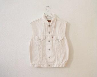 White Levi's Vest