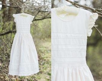Ingrid dress | first communion dress | ivory/cream dress | vintage flower girl dress