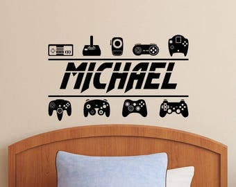 Game Controllers Personalized Wall Decal