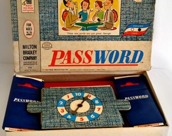 Vintage 1962 Milton Bradley Password Game