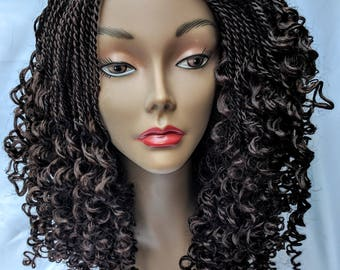 Watermelon Braided Wig (Brown)
