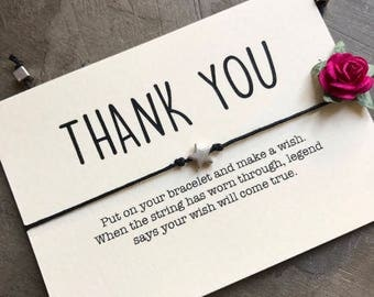 Thank you gift, Thank you wish, Wish bracelet gift, Gift under 10, Friendship bracelet, Wish bracelet, Small gift, Gift under 7, A8