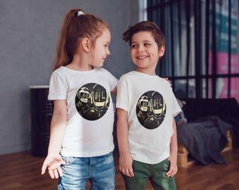 Daft Punk Kids Shirts Kids Tshirt Toddler Shirt Gift For Kids Punk Children Shirts Kids Shirt Kid T-Shirt Boys Top Girls Top Kids Clothes