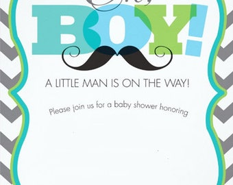 Oh Boy - Baby Shower Invitation for Boy