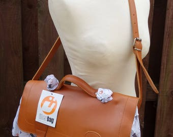Vintage Styled UBERBAG Backpack Rucksack Briefcase Satchel Work Laptop College School Bag Leather Hide Harness Thick Quality Straps Handles