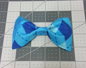 Blue Agile Clip-on Bow ties