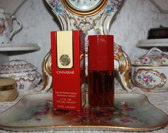 Vintage Cinnabar Estee Lauder Vintage Perfume w/ Box