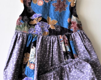 Girls Dress and Pants,,Japanese Print,Floral