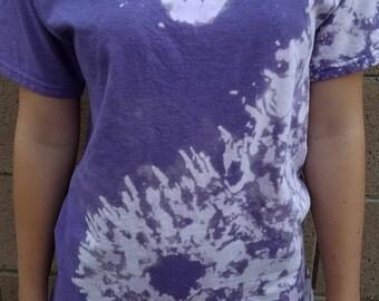 Yin yang bleach purple Tie Dye Tshirt