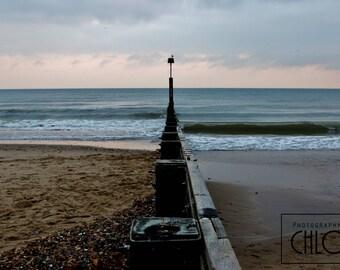 Sunset over Bournemouth Beach -  Print