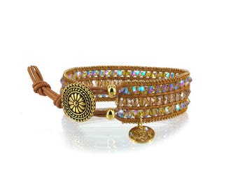Gift for her * Swarovski wrap bracelet by Suza