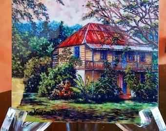 Jamaican hand painted coaster, a creative gift idea!