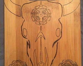 Rustic bull skull