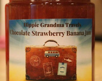 Handmade Organic Chocolate Strawberry Banana Jam