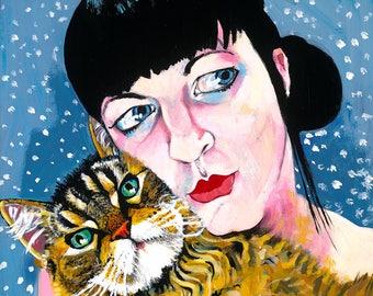 """12"""" x 12"""" Pet Portrait Commission"""