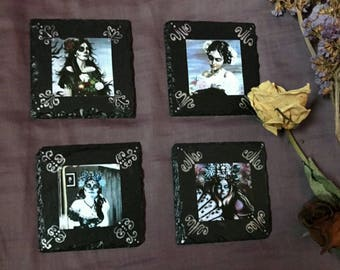 Day of the Dead 'Dia de los Muertos' slate coaster set (set of four)