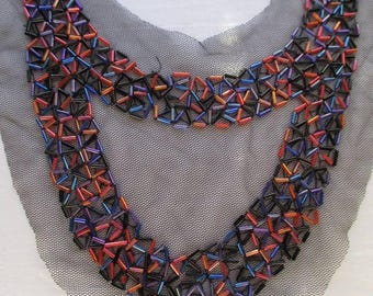 Embellished beaded collar/necklace