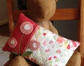 kit; sweet, sweet flower pillow, beautiful cotton and wool fabrics
