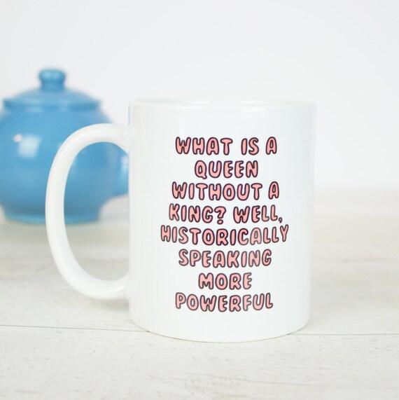 Powerful women quote mug, feminist, girl power coffee mug, history quote