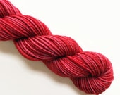paprika / hand dyed yarn / mini skein / sock fingering yarn / merino wool superwash / embroidery / 4 ply / sparkle / chili spice red yarn