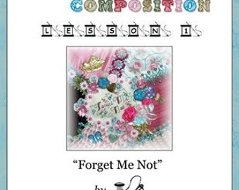 Crazy Quilt Block Pattern Forget Me Not by Pamela Kellogg