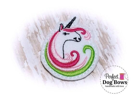 Dog Bow Unicorn, Unicorn Pet Bow, Felt Pet Bow Unicorn