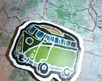 Volkswagon Bus-Vinyl Sticker