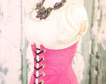 Waist 24 to 26 Hot Pink Wench Corset