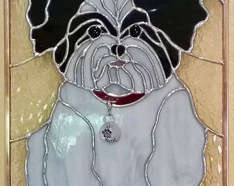 Stained Glass Panel or Suncatcher of your pet