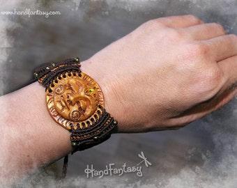 Sun Bracelet macrame. Sun Bracelet. Sun macrame. Gold Sun bracelet. SHIPPING INCLUDED