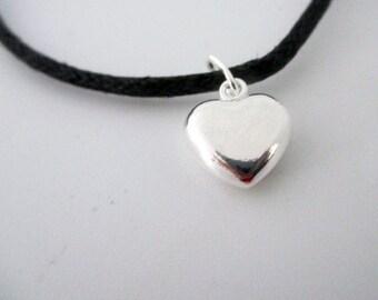 Adjustable Puffy Heart Bracelet