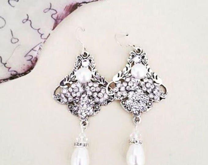Crystal Bridal Earrings Chandelier RAISA