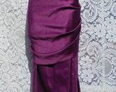 Purple satin dress  vintage  cocktail evening party showgirl burlesque cabaret  flutter sleeve small medium from vintage opulence on Etsy
