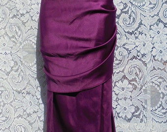 Purple satin dress  vintage  cocktail evening party showgirl burlesque cabaret  flutter sleeve small medium from vintage opulence on Etsy