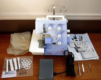 Wonderful Vintage Bernina Bernette 004D FunLock Sewing Machine Serger + Loads of Original Accessories!