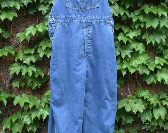 Insulated overalls Gap large flannel lined denim