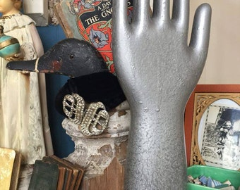 Antique Porcelain Glove Mold Prop Silver Hall China Company