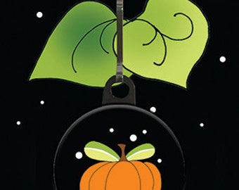 Pumpkin Zipper Charm