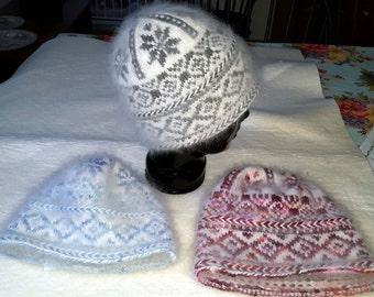 Samoyed & Angora/Wool Hats