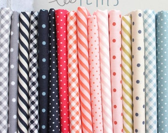 Les Petits Fat Quarter Bundle - by Amy Sinibaldi for Art Gallery Fabrics - complete quilting cotton collection, 16 prints