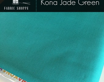 Kona cotton solid quilt fabric, Kona JADE GREEN 1183, Kona fabric, Solid fabric Yardage, Kaufman, Aqua fabric, Choose the cut