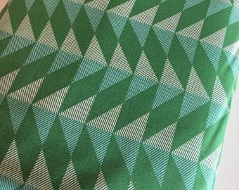 Arrow Fabric, Arrowhead fabric, Modernist fabric by Joel Dewberry, Arrowhead in Emerald- Choose the cut