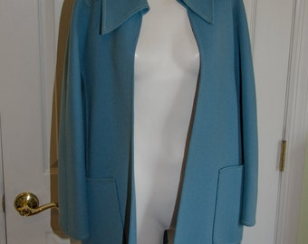 Rare Vintage 1960's Teal Blue Valentino Mod Clutch Jacket