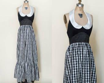 SALE /// 1970s Young Edwardian Dress --- 1960s Vintage Maxi Dress