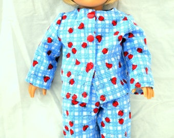 "18"" Doll 2 Piece Pajamas for American Girl Dolls, Journey Girls and Mapalea"